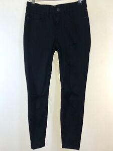 NEW-Look-schwarz-Skinny-Stretch-Jenna-Ripped-Ankle-Jeans-Groesse-8-Euro-36-Bein-24