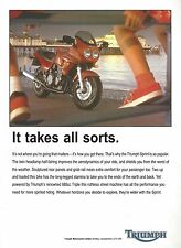 Triumph Sprint Triple - a Genuine 1995 'What Bike' Magazine Advertisement