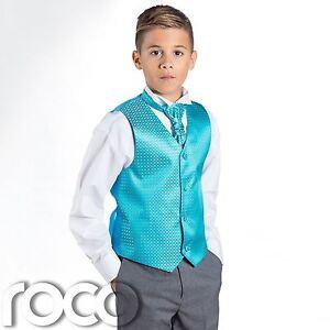 Boys Aqua & Grey Suit, Page Boy Suits, Boys Wedding Suits