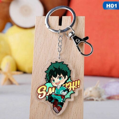 Anime My Hero Academia Acrylic Keychain Midoriya Izuku Bakugou Katsuki Al SSvt