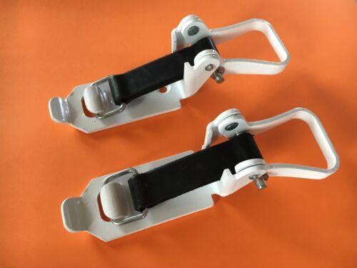 1 Verschlusslager Weiß Schaufelhalter Axthalter Besenhalter für Dm 30 mm kurz