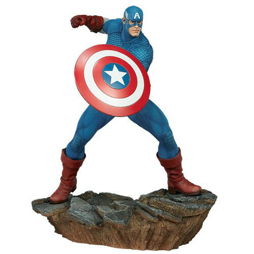 MARVEL - Avengers Montar - Captain America 1 5 Polystone Statue Sideshow
