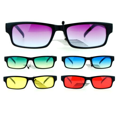 SA106 Classic Oceanic Color lens étroit Rectangulaires Lunettes de soleil en plastique