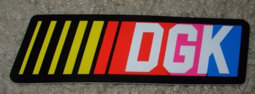 DGK Logo Skate Sticker STOCK CAR Dirty Ghetto Kids skateboards helmets decal