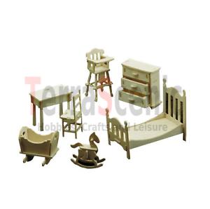 SCALA 1//12th Set Set di mobili per nursery casa delle bambole miniature