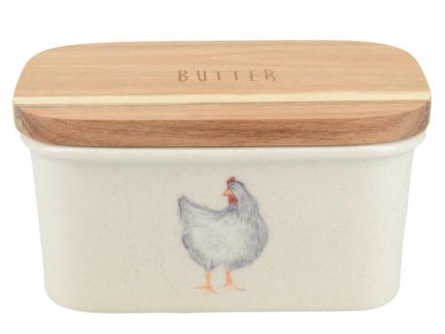 Grandjouan Feather Lane avec lui et poulet Motif Céramique Kitchencraft