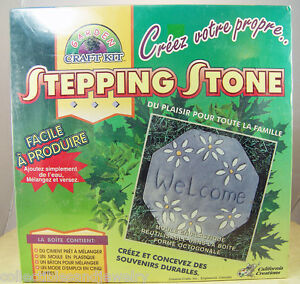 Details About Stepping Stone Kit Reusable Plastic Mold Cement Create Your Own Memories Nib