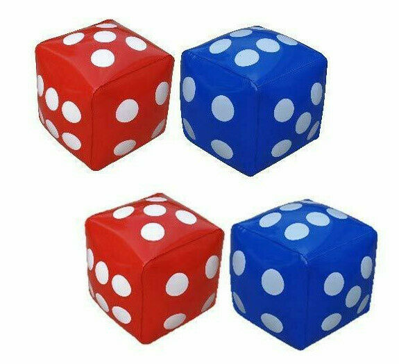 Jumbo Dice Inflatable Pack of 4, 12inch- Great for Education