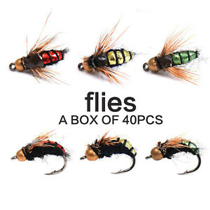 40pcs-8-Dry-Fly-Fishing-Mixed-Trout-Fishing-Flies-Lure-Simulationed-Fly-Hook
