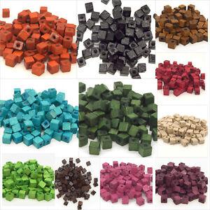 Lot-de-100-Perles-Cubes-en-Bois-6mm-Couleur-au-Choix