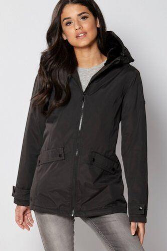 Jacket Brienna Regatta 16 Padded Waterproof Black Hooded Size CdXXw7