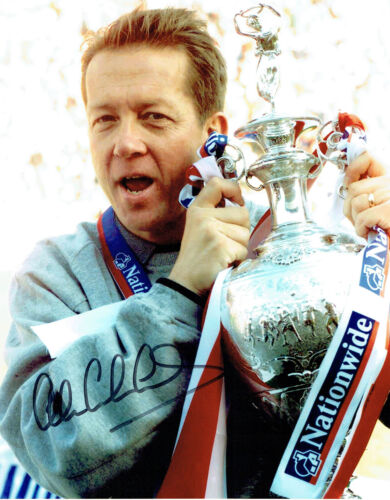 Alan CURBISHLEY Signed Autograph 10x8 Photo AFTAL COA Play Off Winning Manager
