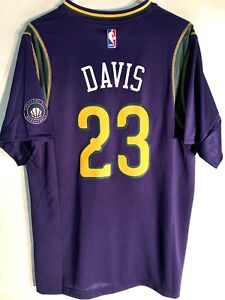 online store adf00 4a99f Details about Adidas Swingman 14-15 NBA Jersey New Orleans Pelicans Anthony  Davis Purple sz S