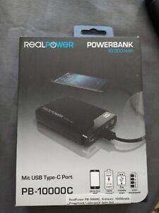REALPOWER PB-10000C, Powerbank, 10.000 mAh (36 Wh), Schwarz - Forchtenberg, Deutschland - REALPOWER PB-10000C, Powerbank, 10.000 mAh (36 Wh), Schwarz - Forchtenberg, Deutschland