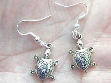 HONO TURTLE Earrings Tibet Silver HONU Sea Tortoise Charm Silver Ear Wires NEW!