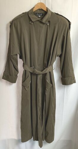 Vintage Women's Searle Brown Trench Coat Padded Sh