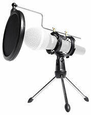 Rockville RTMS21 Desktop Tripod Microphone Stand With Pop Filter Shock Mount