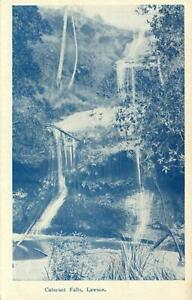 EARLY-1900s-VINTAGE-CATARACT-FALLS-LAWSON-BLUE-MOUNTAINS-POSTCARD-Birchs-Bay