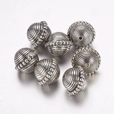 20 x Column Antique Silver CCB Style Acrylic Beads Jewelry Making Crafts 20x10mm
