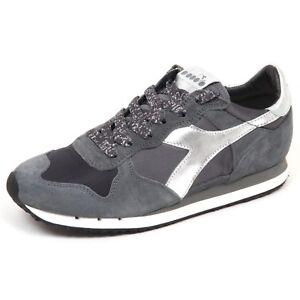 Dettagli su E6886 sneaker donna grey DIADORA HERITAGE TRIDENT scarpe suedesatin shoe woman