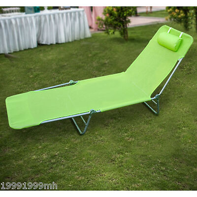 Outsunny Adjustable Sun Lounger Chaise Folding