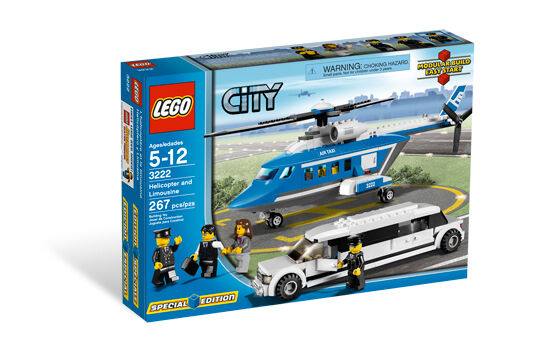 BRAND NEW Lego CITY Helicopter and Limousine 3222