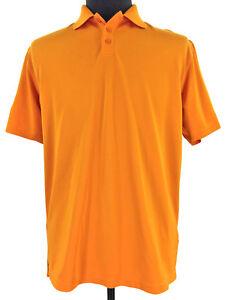 Under-Armour-Loose-HeatGear-Mens-Orange-Short-Sleeve-Golf-Polo-Shirt-Size-Medium