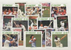 St-Vincent-1988-Cricketers-Mint-MNH-Set-x-2-SG1144-1151-J3814