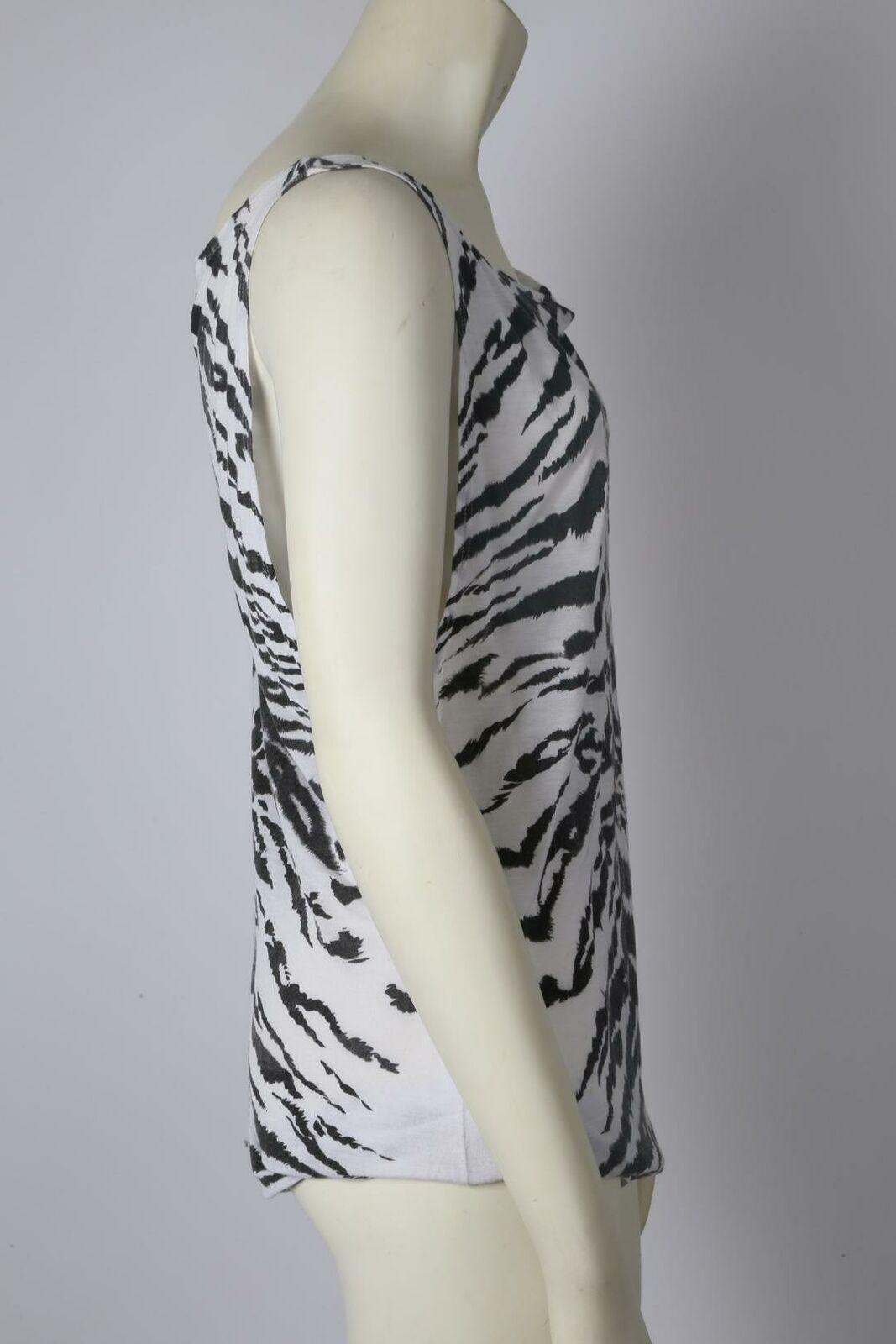 SAINT LAURENT Zebra Print Sleeveless Top Size S - image 4
