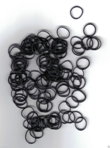 Haar- braun oder transparent. 100 Stück Rastazopf- schwarz Hochsteckgummi