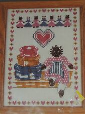 "1989 FOLK DOLL CROSS STITCH KIT # 1919 DECO POINT 5"" X 7"""