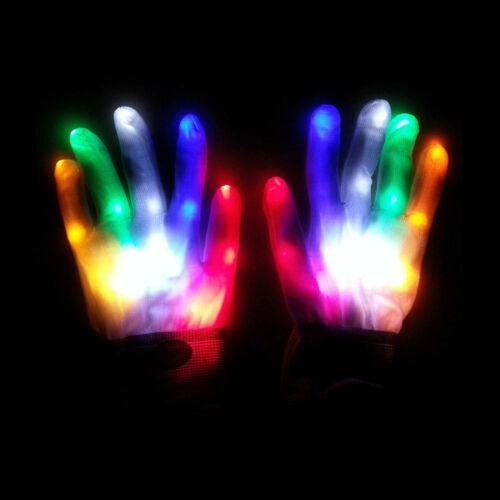 1Pc light-up toys led rave flashing glove glow light up finger tip light LA