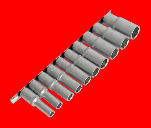 "10 pezzi lungo 1//2/"" Pollici Supporto Set di chiavi a bussola zöllige 3//8/"" 15//16/"" b2435"