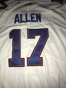JOSH ALLEN Buffalo White Custom Stitched Football Jersey ...
