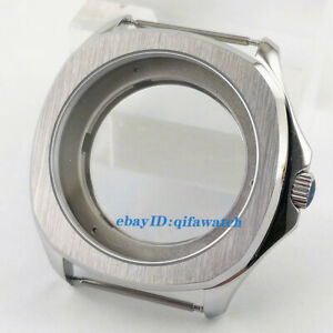 40mm-Silver-Sapphire-Crystal-watch-Case-fit-ETA-2836-Miyota-8215-821A-Movement