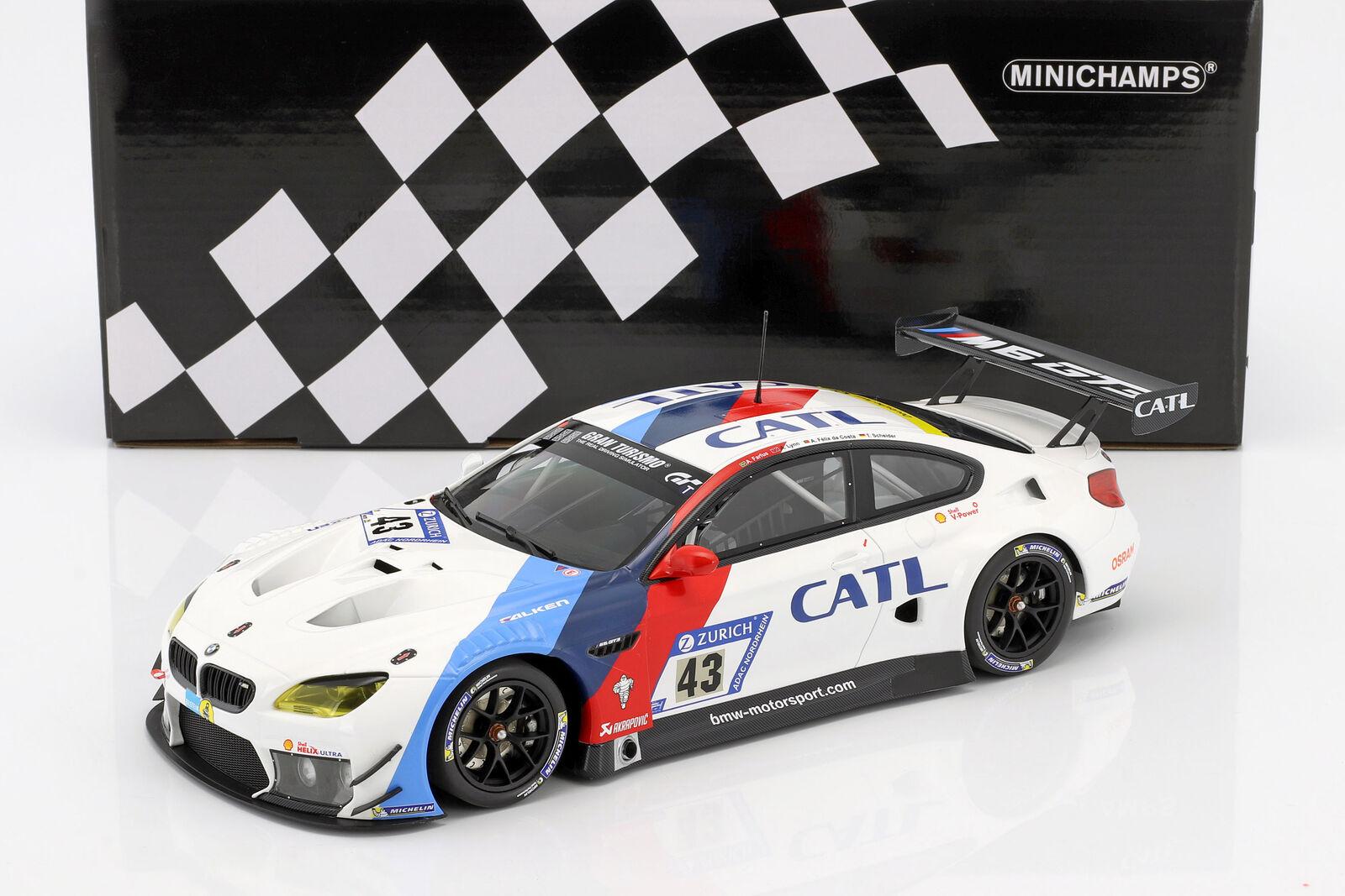 BMW M6 Gt3 h Nürburgring 2017 Farfus, Lynn, Da Costa, Scheider 1 18 Minic