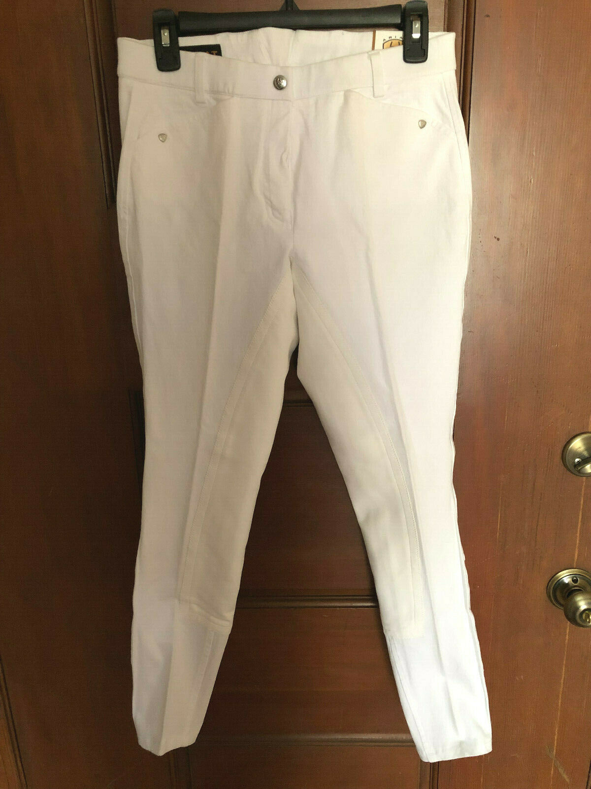 NWT  110 24 Long Ariat Heritage Full Seat White Breeches Jods Riding Pants 31  W