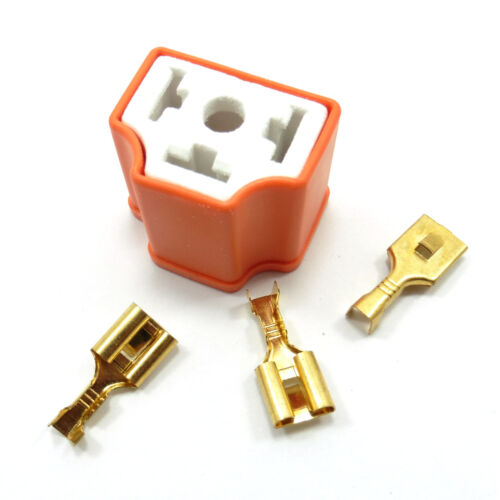 3 Pin H4 Ceramic Holder Plug Sockets Wiring Car Headlight Bulb HID 3 Terminals