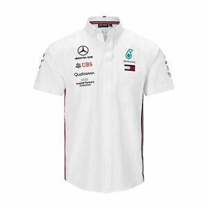 bf1be46651 F1 2019 Mercedes AMG Petronas Motorsport F1 Team Mens Shirt White ...