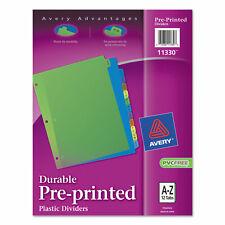 Avery Preprinted Plastic Tab Dividers 12 Tab Letter 11330