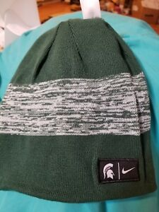 4b2ef4ce076 ... coupon code image is loading nike spartans beanie cap msu michigan state  university 5e28c 8d793 ...