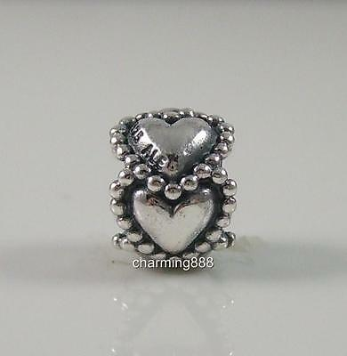 Authentic Genuine Pandora Silver Everlasting Love Heart Charm Bead790448