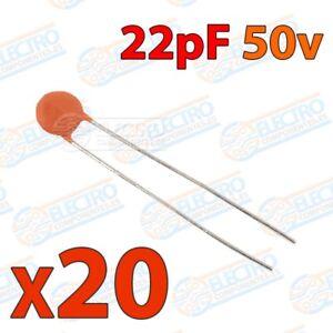Mini-condensador-ceramico-de-22pf-50v-20-80-Lote-20-unidades-Arduino-Elect
