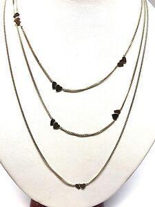 Collier-en-or-18-carats-750-1000-3-rangs-motif-coeur-bicolore