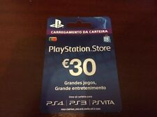 PlayStation Network 30 EUR PSN CARD PT PORTUGAL for/para PS3 PS4 PSVITA NOV