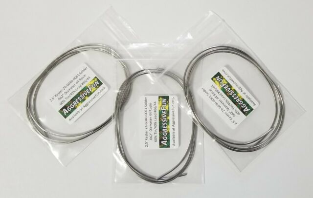 """Kester 44 Rosin Core Solder .062/"""" 1.6mm 60//40 Flux 24-6040-0061 NEW 7.5ft 2.3m"""
