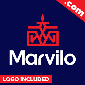 Marvilo-com-Cool-brandable-domain-name-for-sale-Godaddy-PREMIUM-LOGO-One-Word