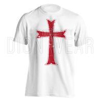 Crusader Knights Templar Distressed Christian Cross Jesus Christ T-shirt S-3xl