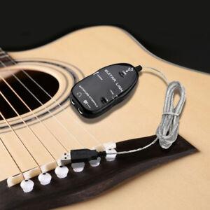 Chitarra-all-039-interfaccia-USB-Collegamento-Cavo-Adattatore-Mac-PC-di-registrazione-CD-S4U7-M9Y4