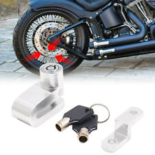 uxcell Black Motorcycle Scooter Anti-Theft Wheel Security Disc Lock with 2 Keys